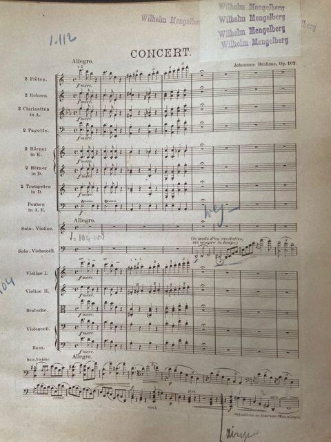 Mngelberg's score opus 102 Allegro