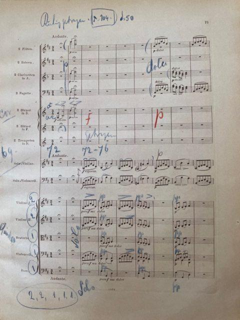 Mengelberg's score opus 102 Andante