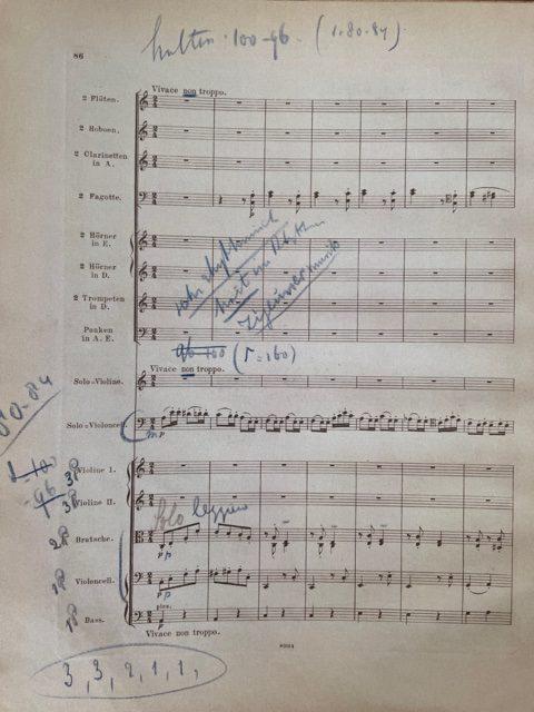 Mengelberg's score opus 102 Vivace non troppo