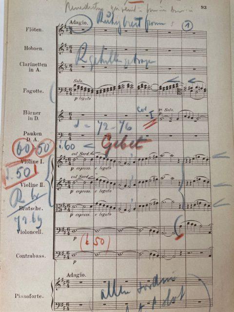 Mengelberg's score opus 15 Adagio