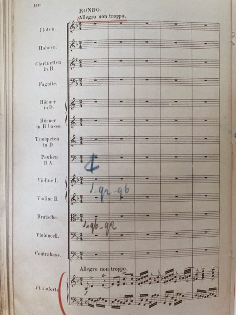 Mengelberg's score opus 15 Rondo